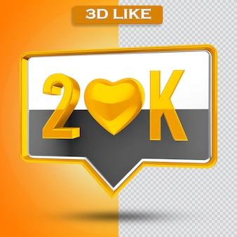 20k 아이콘 투명 3d