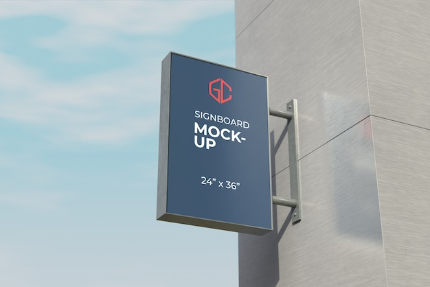 24 x 36 inches signboard mockup