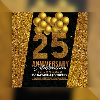 25 anniversary party flyer