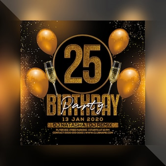 25 birthday party flyer