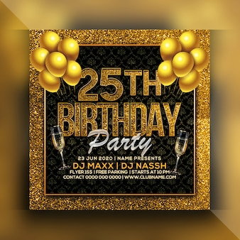 25 개의 생일 파티 전단지