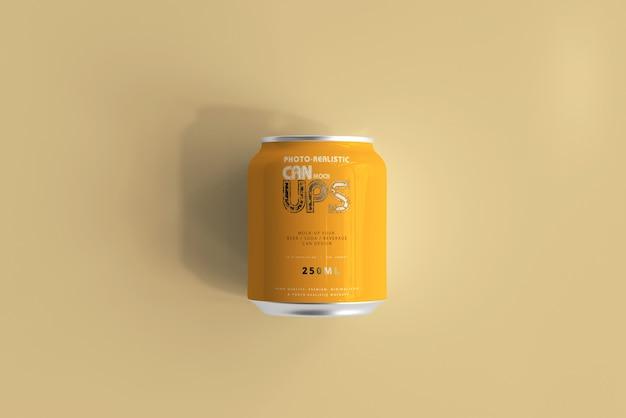 250mlアルミ缶モックアップ分離