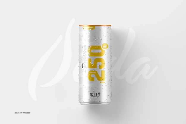 250ml soda can mockup