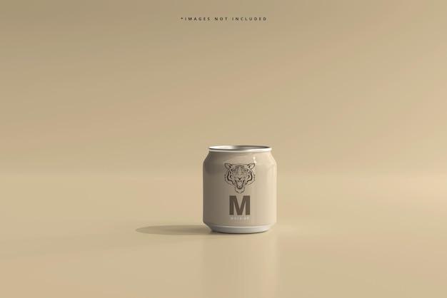 250ml stubby soda or beer can mockup