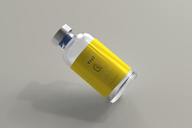 Flacone da 25 ml mock up