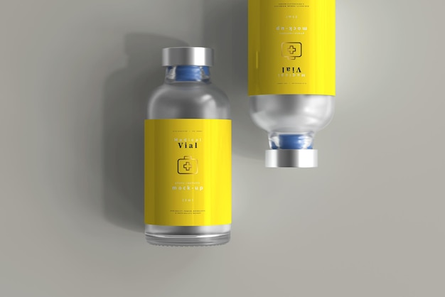 25ml vial bottle mock up