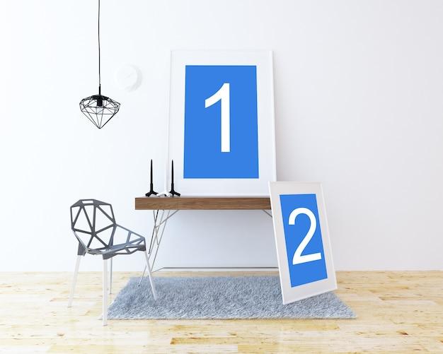 2 кадра на столе макет