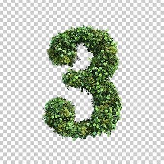 緑の植物番号3の3 dレンダリング