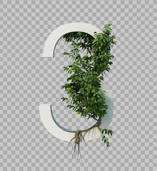 3番に忍び寄る木の3 dレンダリング