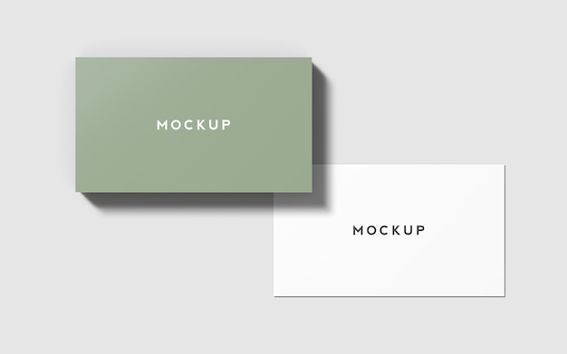 3,5 x 2 inches business card mockup