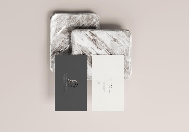 3.5x2 business card mockup