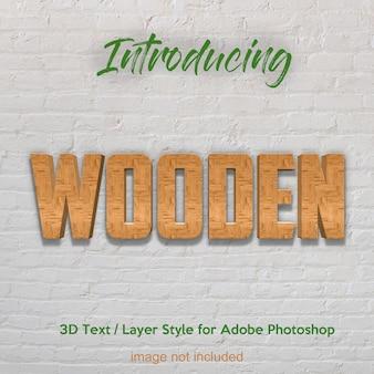 3 d木材木材板テクスチャphotoshopレイヤースタイルのテキスト効果