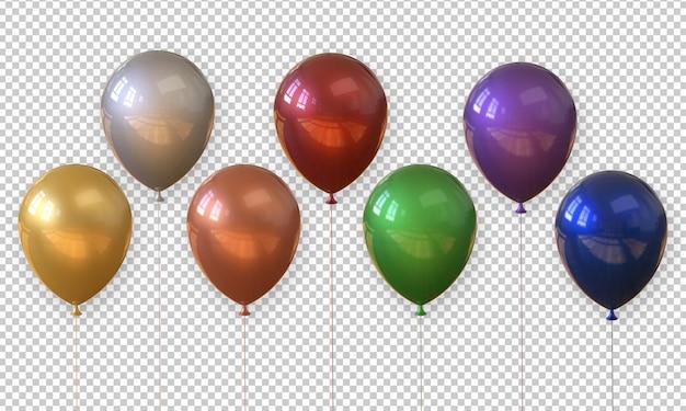 分離された3 dレンダリング現実的なバルーン