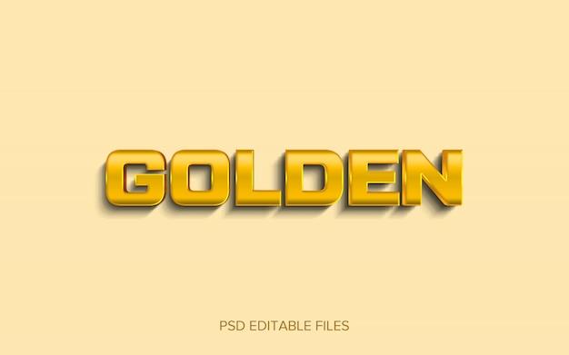 3 dゴールドテキストスタイル