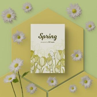 3 dの花と春の時間カード