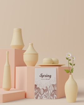 3 dコンセプトの装飾と春の時間