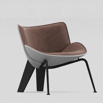 等尺性椅子3 d分離レンダリング