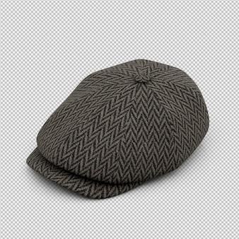 等尺性帽子3 d分離レンダリング