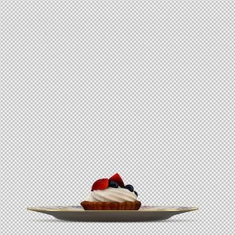 カップケーキ3 d分離レンダリング