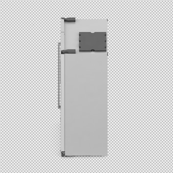 等尺性冷蔵庫3 d分離レンダリング