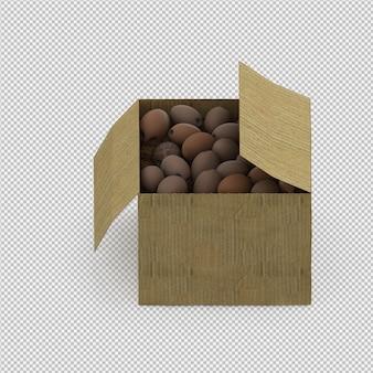 等尺性ココナッツの3 dレンダリング