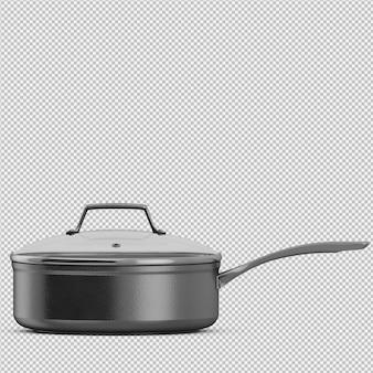等尺性鍋3 d分離レンダリング
