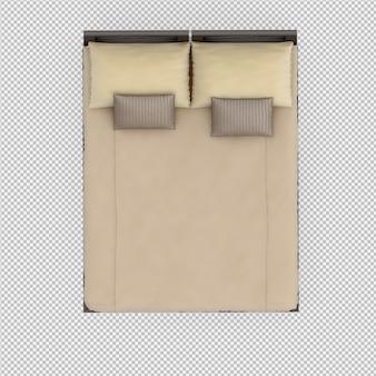 等尺性ベッドの3 dレンダリング