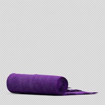 折り畳まれたタオル3 d分離レンダリング