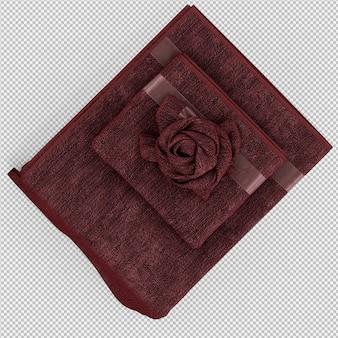 折り畳まれたタオルの端3 d分離レンダリング