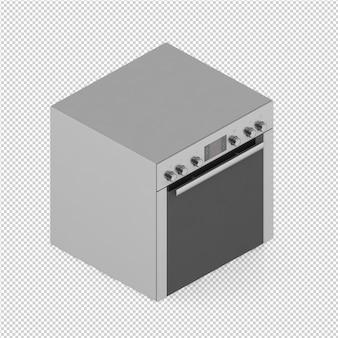 等尺性キッチン範囲3 dレンダリング