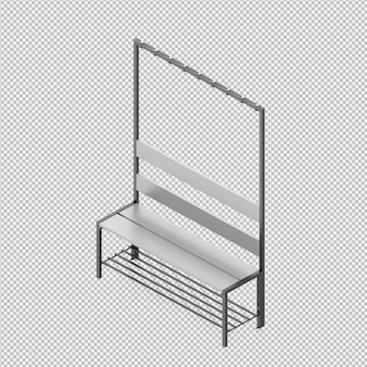 等尺性ベンチ3 dレンダリング