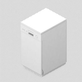 等尺性食器洗い機3 dレンダリング