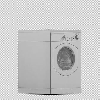 等尺性洗濯機の3 dレンダリング