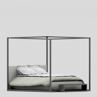 等尺性ベッド3 dレンダリング