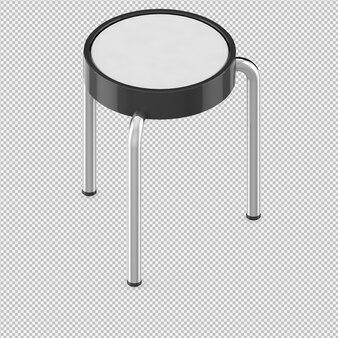 等尺性椅子3 dレンダリング