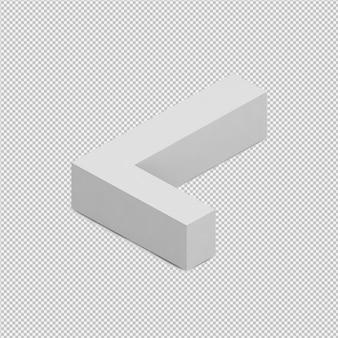 等尺性アルファベット3 d分離レンダリング
