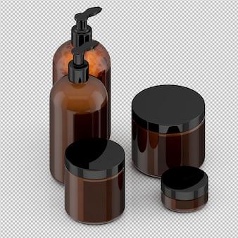 等尺性バスルームアクセサリー3 d分離レンダリング