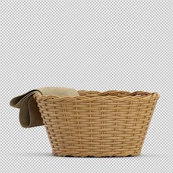 等尺性ピクニックバスケット分離3 dレンダリング