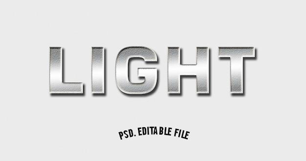 3 dフォントの大胆な光メタリック輝くモックアップ