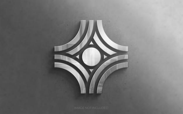 壁に3 dのモダンな高級ロゴ