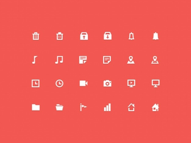 30 icone minimali