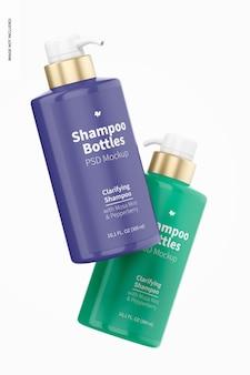 300 ml shampoo bottle mockup, floating