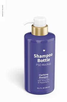 300 ml shampoo bottle mockup, front view