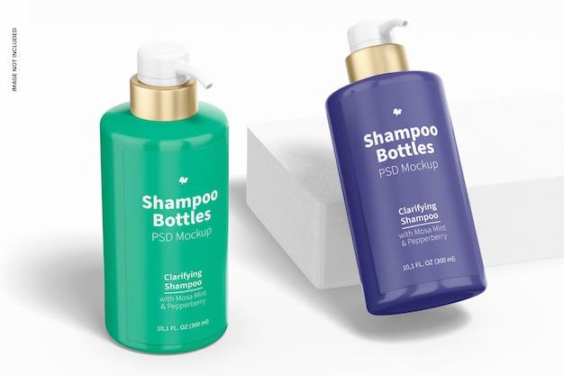 300 ml shampoo bottle mockup