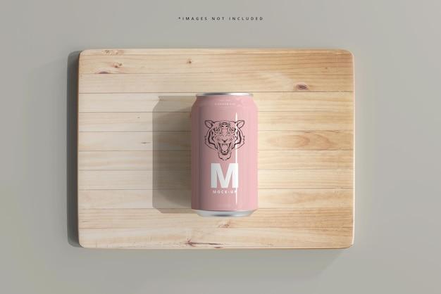 330ml medium size soda or beer can mockup