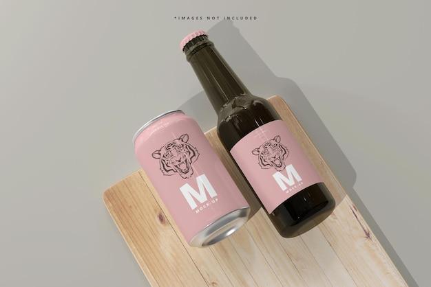 330ml 중형 소다 또는 맥주 캔 및 병 모형