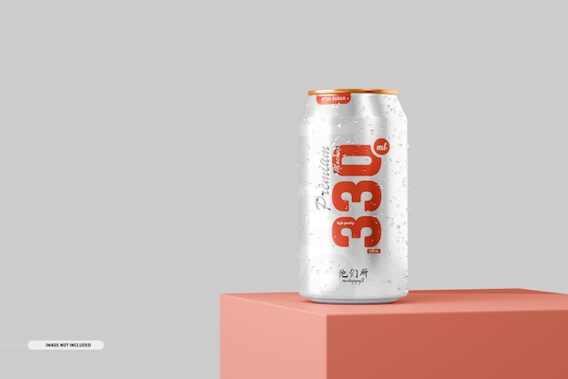 330ml soda can mockup