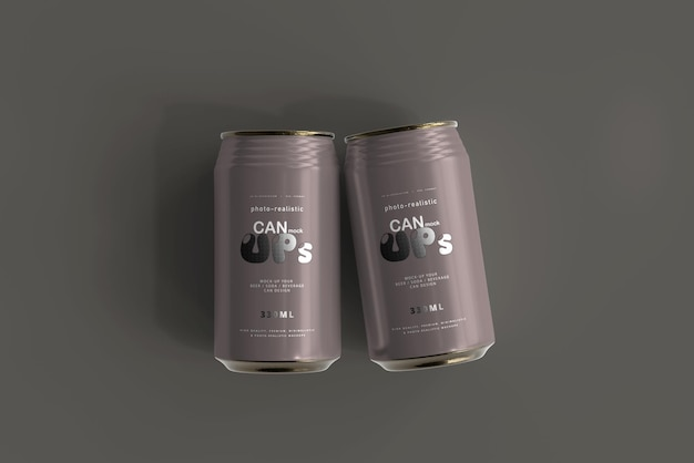 330ml standard soda can mockup
