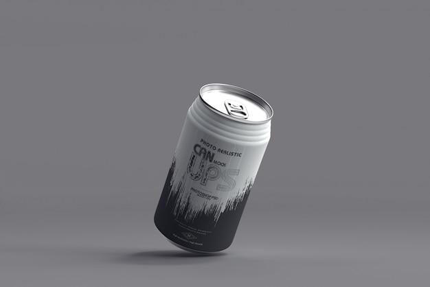350ml soda can mockup