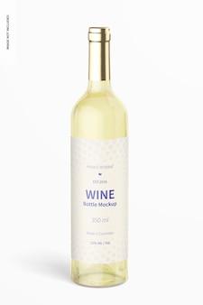 350ml wine bottle mockup